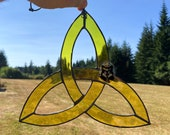 Stained Glass Suncatcher Wiccan Simple Celtic Knot