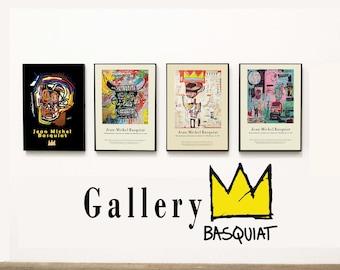 4 set of Jean Michel Basquiat - Gallery of Michel Basquiat - Set of 4 Artworks of Basquiat - American Art - BUY 4 PAY 3