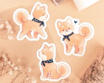 Dog Adventures: Shiba Inu Stickers