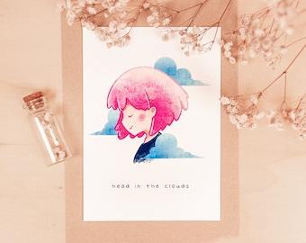 Head in the Clouds: Anime Mini-Print