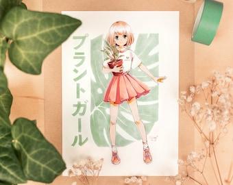 Plant Girl: Anime Mini-Print