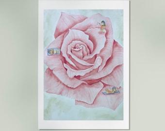 Summer - Fine art print- Watercolor Giclée print - Nursery decor