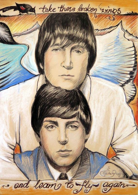 The Beatles 0255 Vintage Music Poster Art