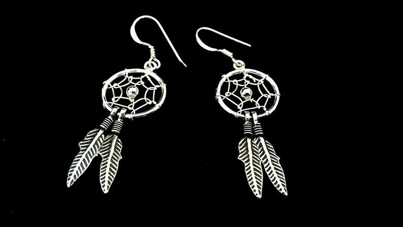 Dream catcher earrings in 925 silver