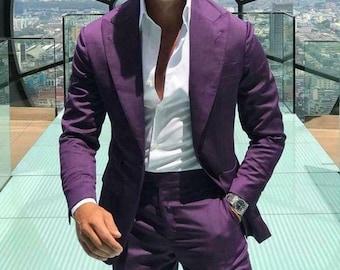 Men purple groom suit, Summer Suits Men Purple Suit,2 Piece suits Men Dinner suits, Wedding Suits,Men Wedding Suit must read description.