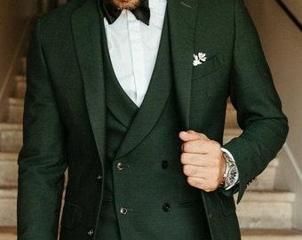 Men Suit Dark Green Wedding Suit Groom Wear Suit 3 Piece Suit Two Button Suit Party Wear Suit For Men Dinner Suit  must read description