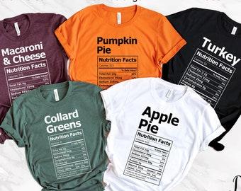Group Christmas Shirts, Nutrition Facts Shirts, Thanksgiving Shirts, Family Reunion Shirts, Matching Family Shirts, Food Shirts