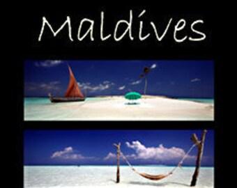 Maldives. Professionally printed poster, ready for mounting / framing / hanging.