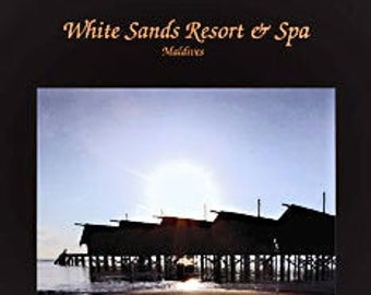 White Sands Resort & Spa, huts on the ocean in the Maldives. Professionally printed poster, ready for mounting / framing / hanging.