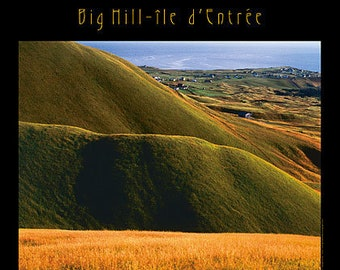 Big Hill-île d'Éntree (Entry Island). Professionally printed poster, ready for mounting / framing / hanging.