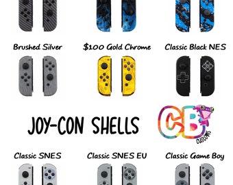 JOY-CONS Nintendo Switch Custom Graphic Hydro-Dipped Joycon Housing Shells - DIY