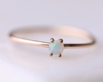 Opal  RingOpal RingGold Opal RingOpal Ring GoldSimple Opal RingSmall Opal RingMinimalistflorumJewelryThin Opal Ring14kSolid Gold