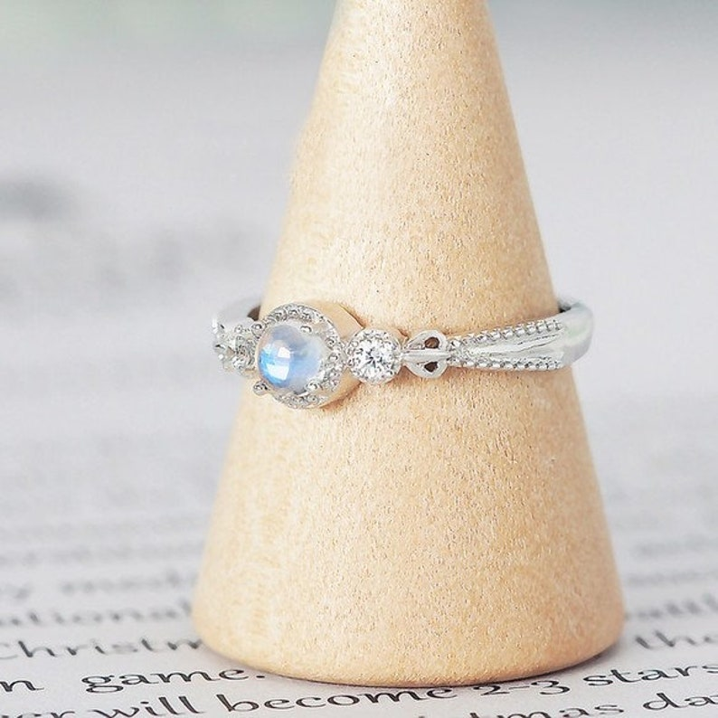 Moonstone Ring* Minimalist Ring* Birthstone Ring* Dainty Ring* Stacking Ring* 14k Gold Ring* Promise Ring* Moonstone Ring* Gifts For Her