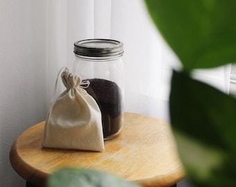 Cold Brew Coffee Filter   Organic Cotton   Zero Waste   Reusable Swap