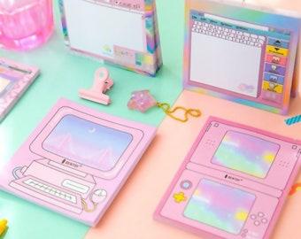 Restock!! Vaporwave PC Screen Memo Pads / Cute Kawaii Pastel Stationery