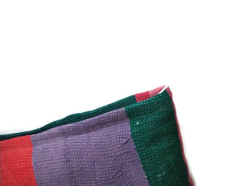 Vintage Kantha work handmade Cushion cover  Pillow Shams  50\u00d735 CM