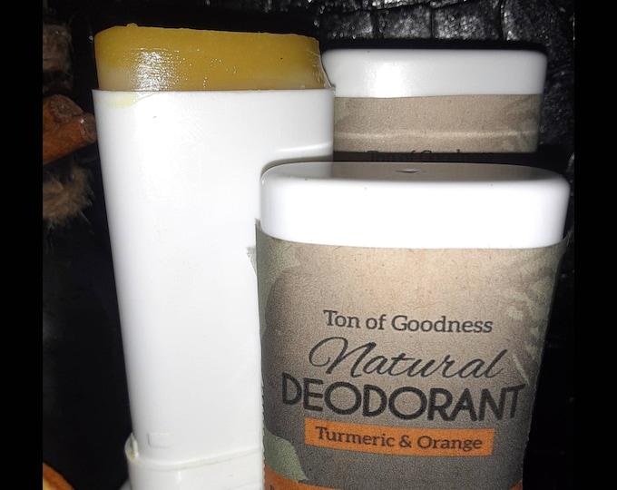 Natural Deodorant | Turmeric Deodorant | Turmeric & Orange Deodorant | Dark Spot Fading Deodorant | Antiperspirant | Wholesale Deodorant