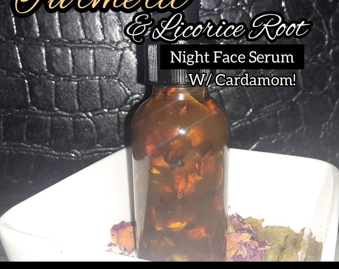 Turmeric & Licorice Root  Brightening Night Serum | Turmeric Body and Face Oil | Effective Skin Brightner | Fade Dark Spots | Replenish Skin