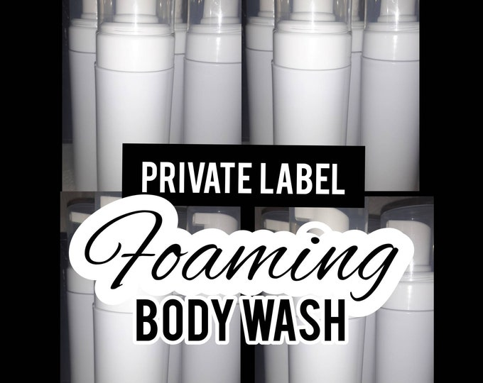 Private Label Foaming Body Wash | Bulk Body Wash | Body Washes in Bulk | 1 Dozen Foaming Body Washes | 6.8oz Body Wash Bottles | Bulk