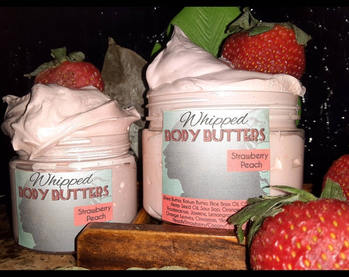Strawberry Peach Whipped Body Butter | Fruity Body Butter | Gifts for Her | Mother's Day Gift | Teen Gifts | Birthday Gift | Holiday Gift
