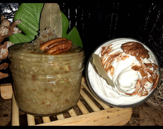 Butter Pecan Whipped Body Butter & Sugar Scrub Set | Gift Set | Great Gift Ideas | Holiday Gift Set | Dark Spot Fader | Self Care Kit