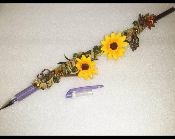 HUGE Manifestation Pen | Manifestation Pen Wand | Aśe Items | Spiritual Tools | Intention Item | Goddess Pen | Manifestation Tools | Chakras