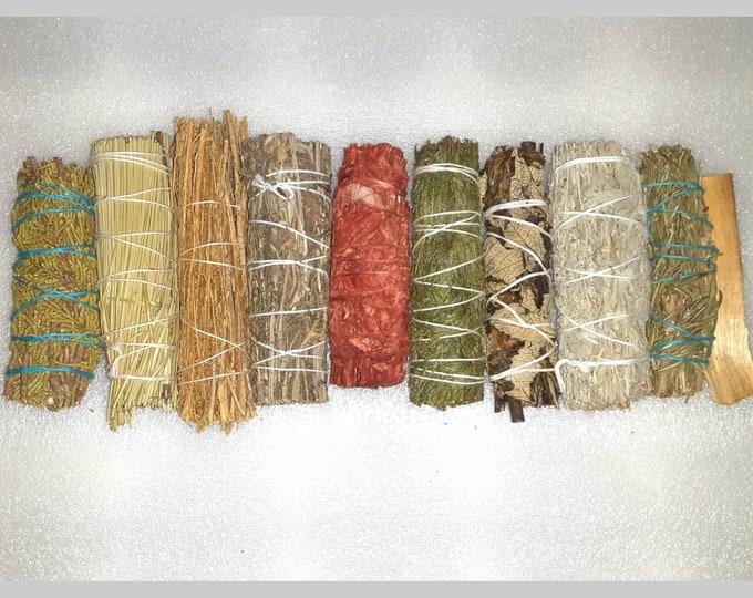 Smudge Sticks | Smoke Cleansing | Spiritual Cleansing | Sage | Pine | Palo Santo | Cedar | Juniper | Lavender | Mugwort | Copal Sage