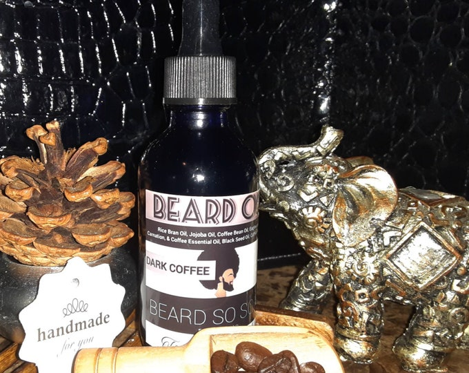 Men's Beard Oil | Coffee Beard Oil | Dark Coffee Beard Oil | Beard Conditioner | Beardcare Products | Gifts for Him | Gifts For Dad