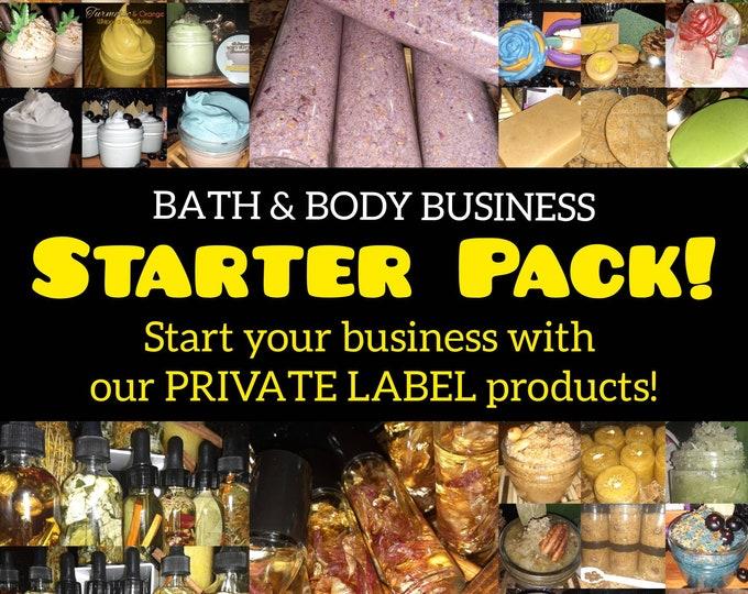 Skincare Business Starter Pack | Bath & Body Variety Kit | Body Butters | Sugar Scrubs | Soap Bars | Body Oils | Start A Skincare Line