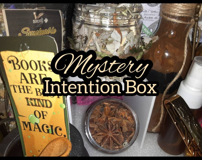 Intention Box | Mystery Intention Box | Mystery Box | Smoke Cleansing Kit | Incense Kit | Manifestaion Kit | Spiritual Oils | Herbal Oils