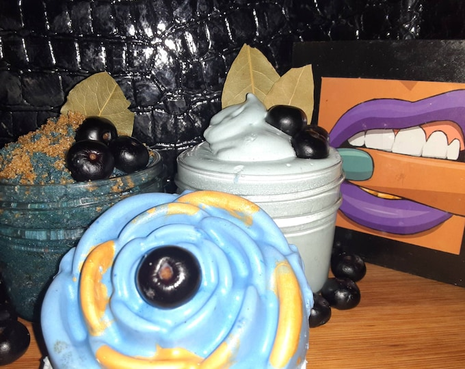 Gift Sets for Her   Blueberry Pie Bath & Body Set   Unique Gift Set   Holiday Gift Set   Self Care Kit   Sugar Scrub   Whipped Body Butter
