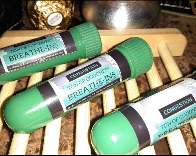 Essential Oil Inhalers | BREATHE-INS: Aromatherapy Inhalers to Boost Imunity & Aids in Cold, Flu, Anxiety, Headache, Vertigo +