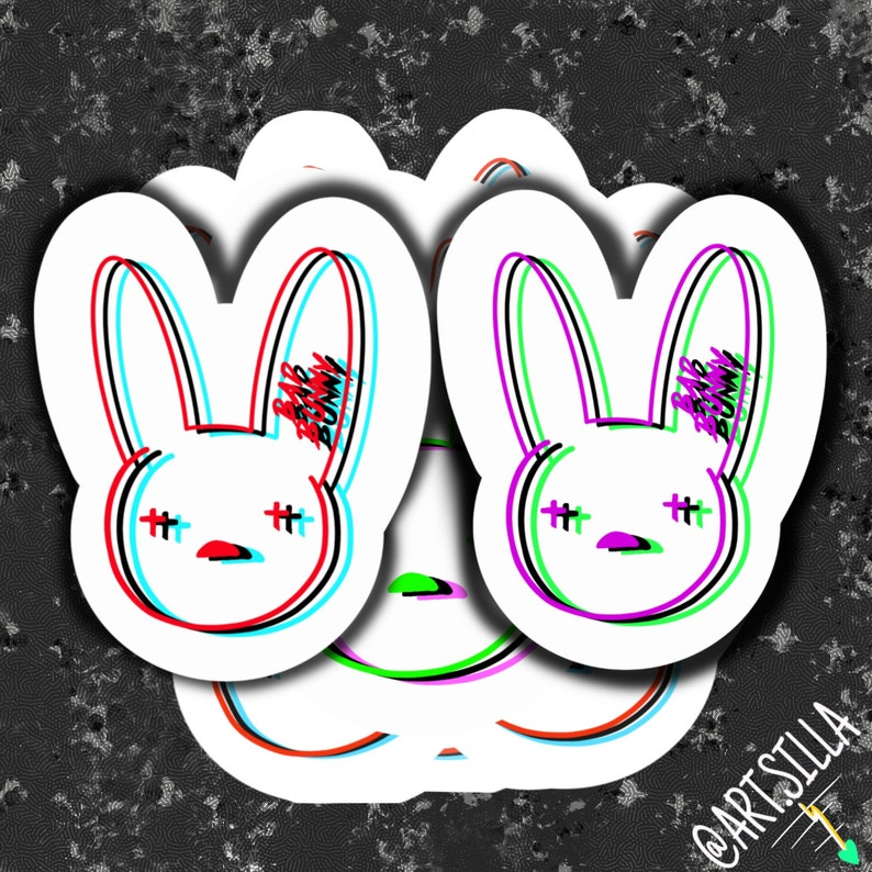 3D Bad Bunny Logo Sticker | Etsy