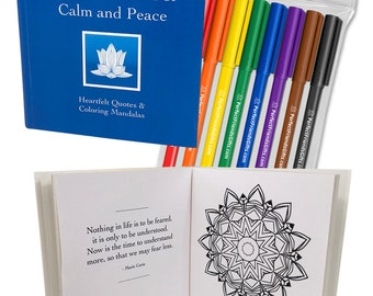 The Little Book of Calm and Peace - Heartfelt Quotes & Coloring Mandalas