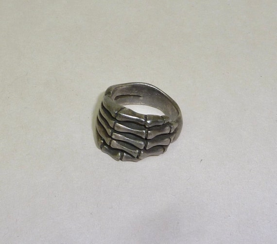 925 Sterling Silver Skeleton Hand Ring