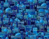 Midnight Bethlehem Town w Metallic fabrics, Silent Night by Harry Glass, 2513M-77