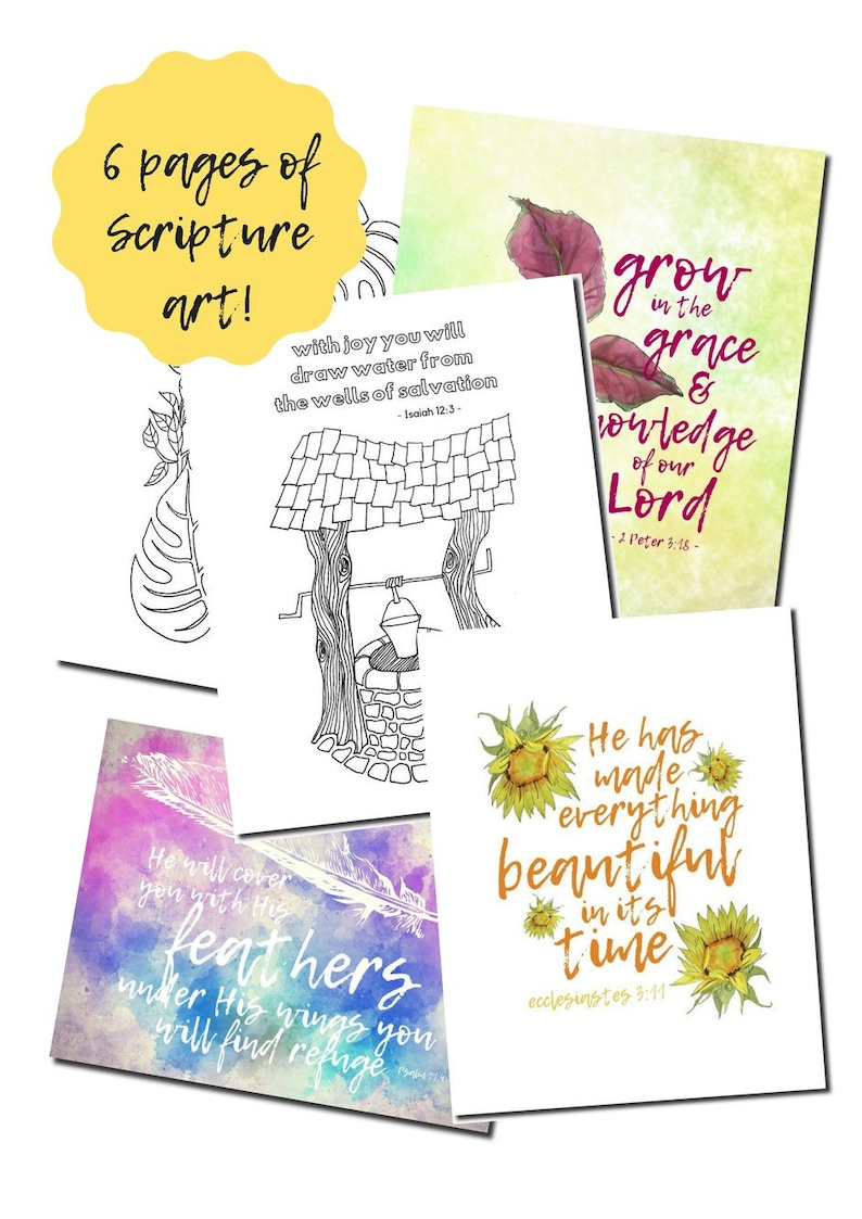 WOMAN AFTER GOD Printable Pack 23 pages / Bible Study Tools image 0