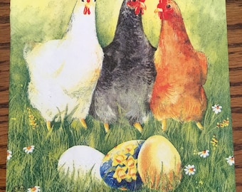 4 x Single Paper Napkins for Decoupage Craft Table Easter Chicken Flower Egg 132