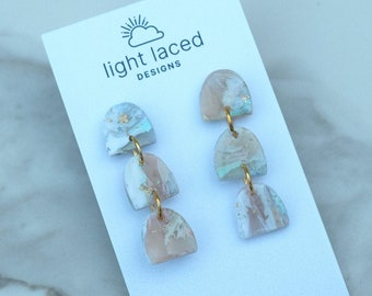 JOURNEY | Crystal Collection | Clay Statement Earrings | Minimal | Boho | Inspirational Jewelry | Gift for Her