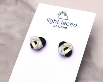 BUMBLEBEES | Clay Stud Earrings | Minimal | Spring | Summer | Insect | Inspirational Jewelry | Gift for Her