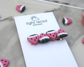 WATERMELON SUGAR | Clay Hair Clips | Minimal | Summer | Fruit | Food | Gift for Her