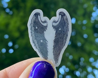 """Tiny Angel Wing Sticker 