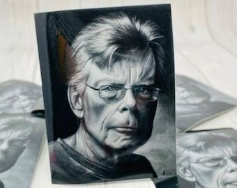 Vinyl Sticker, Stephen King, Portrait, Drawing | Fan, Books, Book Lover, Bookworm, Decal, Waterproof, Gift