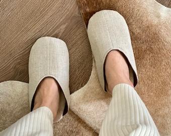 Simple Pure Natural Linen Shoes