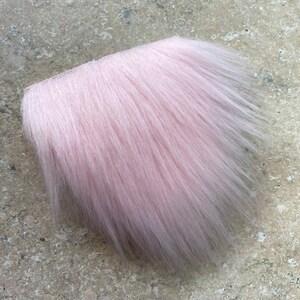 Beard Hair Handmade Gnome Pre-cut Straight Blush Pink Gnome Beard Faux Fur Gnome