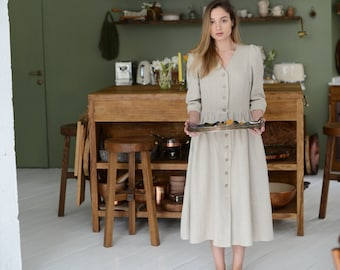 Eco life style Summer linen dress light and natural dress