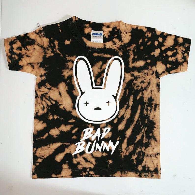 Bad Bunny Inspired Bleached Tie Dye Kids Tee