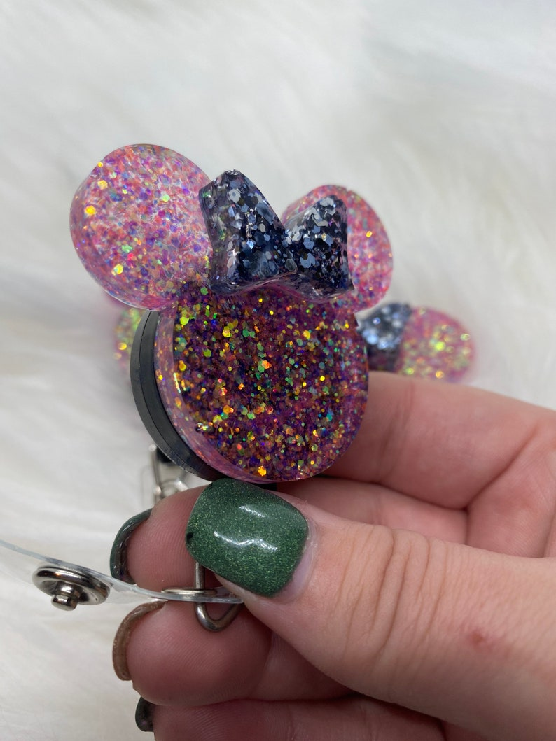 ready to ship Minnie Mouse Badge Reel