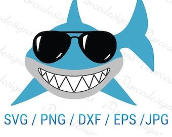Shark-svg jpg png dxf Silhouette cricut