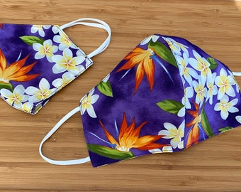 reversible tote bag by Muf+Mi Birds birds and more birds